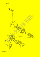 KICK STARTER (MODEL H/J/K/L/M/N) for Suzuki QUADRACER 250 1990