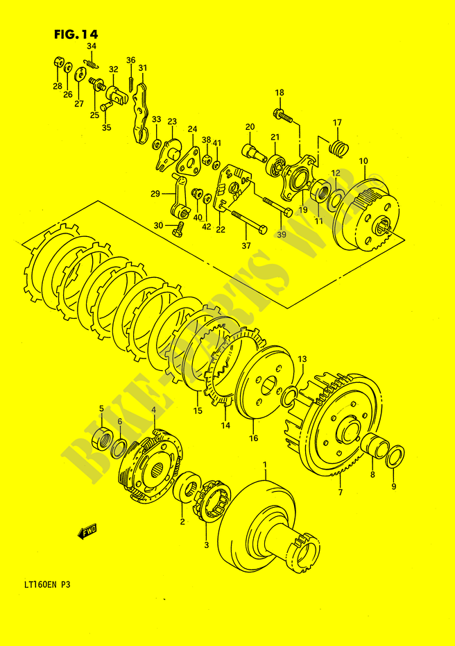 CLUTCH for Suzuki 1990 # SUZUKI MOTORCYCLES - Genuine Spare Parts