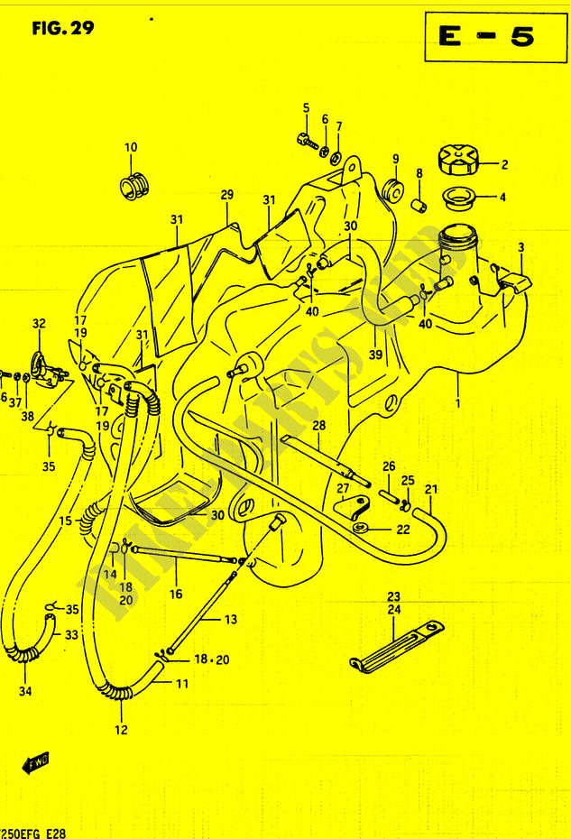 FUEL TANK for Suzuki 1985 # SUZUKI MOTORCYCLES - Genuine Spare Parts
