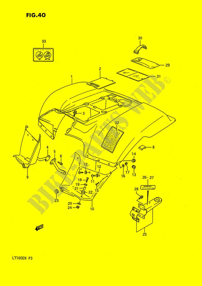 REAR FENDER (MODEL K) for Suzuki 1990 # SUZUKI MOTORCYCLES - Genuine