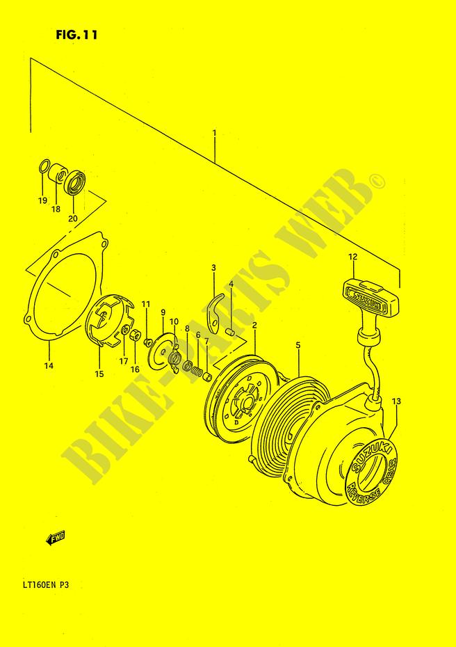 RECOIL STARTER (OPTIONAL) for Suzuki 1990 # SUZUKI MOTORCYCLES