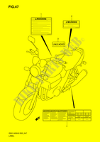 LABEL  GSX1400K6(E2) K6 2006 Motorcycle Suzuki microfiche diagram