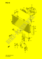OIL COOLER  GSX1400K6(E2) K6 2006 Motorcycle Suzuki microfiche diagram