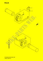 HANDLE SWITCH (VS1400GLPK4)  VS1400K5(E3/E28) K5 2005 Motorcycle Suzuki microfiche diagram