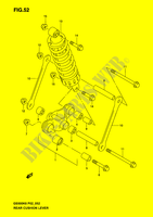 SHOCK ABSORBER LINKAGE (MODEL K3) SUSPENSION/BRAKES/WHEELS 500 suzuki-motorcycle GS-F 2006 DP037464
