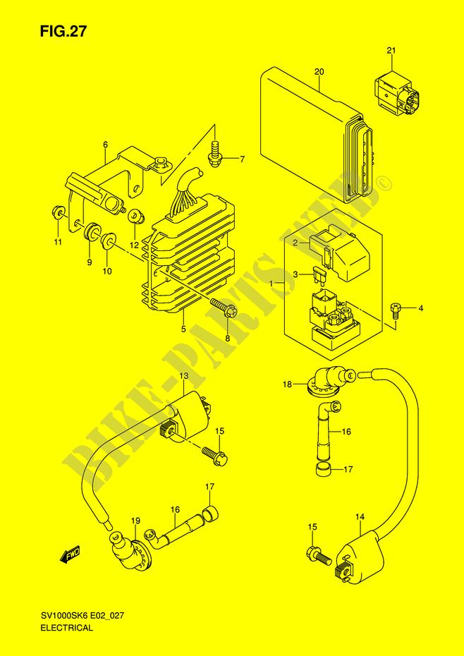 suzuki moto 1000 sv 2007 sv1000s2k7(e2) electrical electrical (sv1000s/s1/