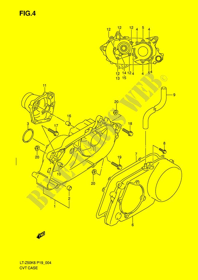 transmission casing assy engine transmission lt z50k9 p19 2009 rh bike parts suz com