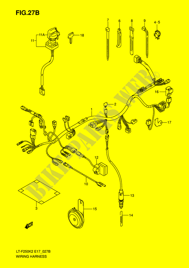 Wiring Harness  Lt F250k6 E4  For Suzuki Ozark 250 2005