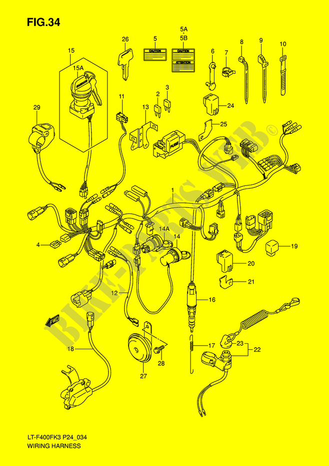 Wiring Harness For Suzuki Eiger 400 2003 Suzuki Motorcycles Genuine Spare Parts Catalog