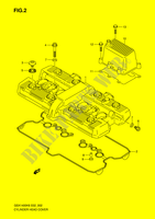 CYLINDER HEAD COVER  GSX1400K6(E2) K6 2006 Motorcycle Suzuki microfiche diagram