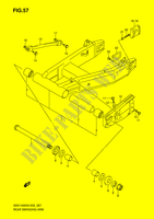 REAR SWINGINGARM  GSX1400K6(E2) K6 2006 Motorcycle Suzuki microfiche diagram