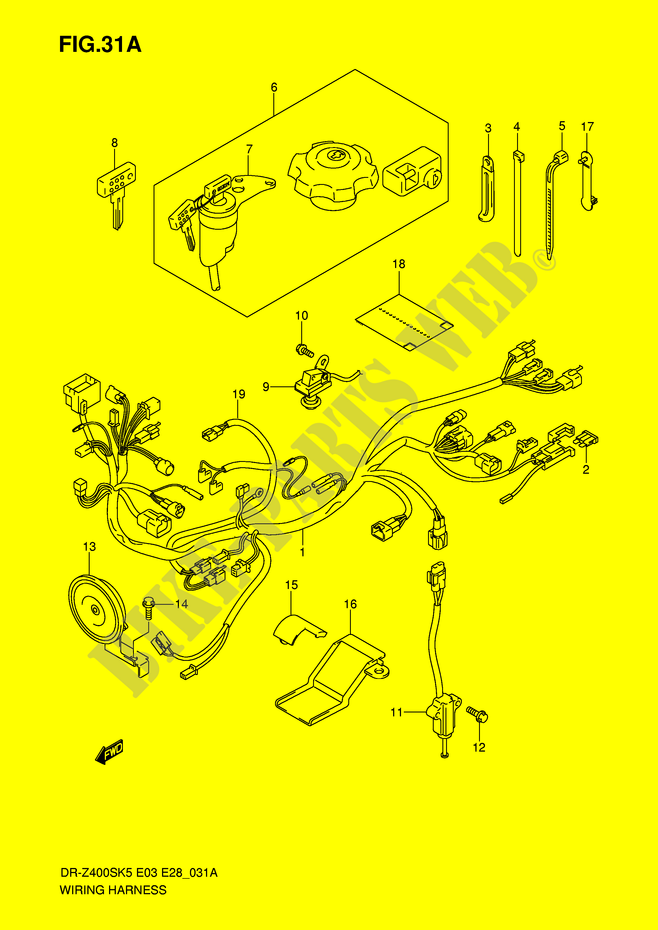 WIRING HARNESS (MODEL K6/K7/K8/K9) for Suzuki DR-Z 400 2008 ... on h4 wiring diagram, c1 wiring diagram, k30 wiring diagram, c6 wiring diagram, d2 wiring diagram, g4 wiring diagram, c3 wiring diagram, sony wiring diagram, k5 wiring diagram, g3 wiring diagram, r6 wiring diagram, d9 wiring diagram,