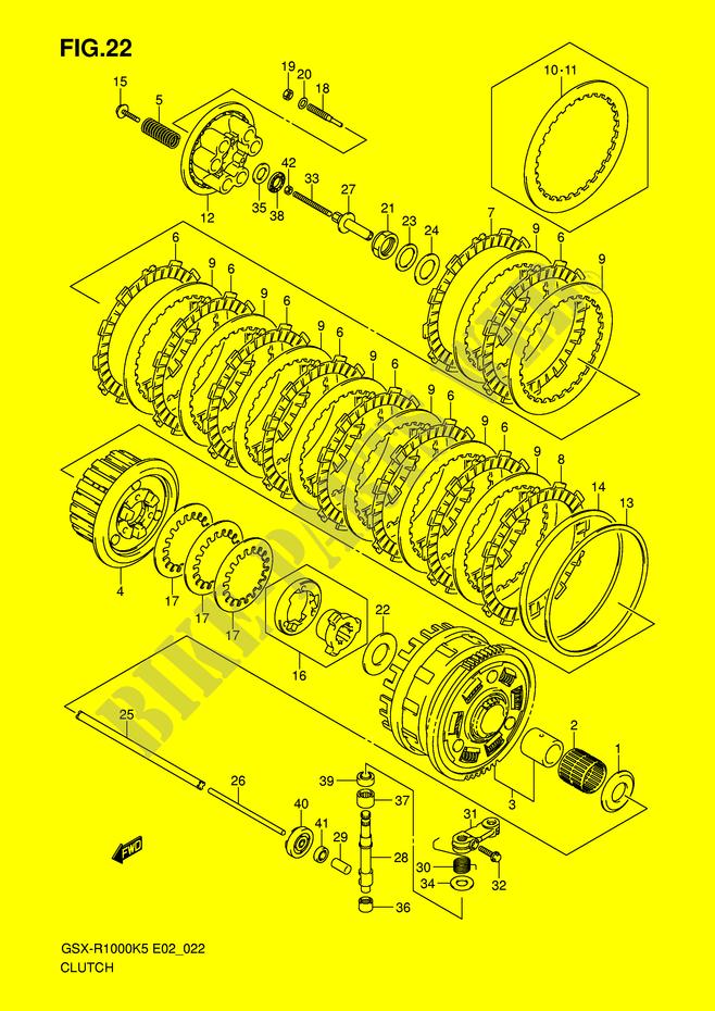 Clutch Push Rod Oil Seal 1000 CC Suzuki GSX-R 1000 K6 2006