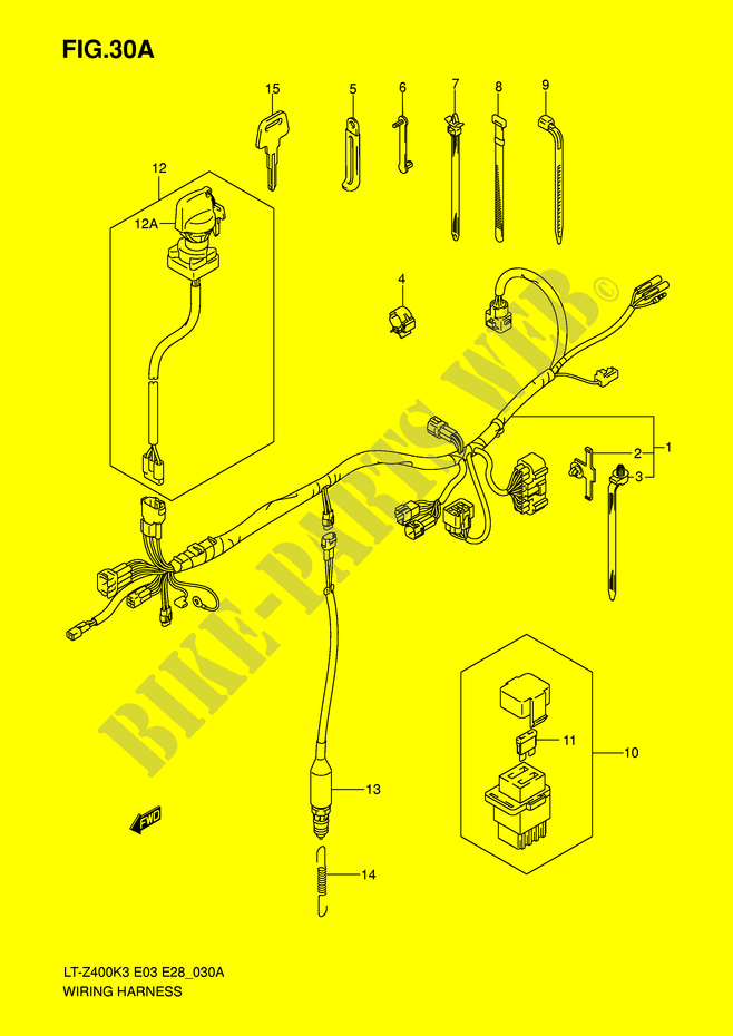 Motorcycle Trailer Wiring Diagram from www.bike-parts-suz.com