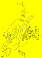 FUEL TANK (MODEL X)  DR350V(E1) V 1997 Motorcycle Suzuki microfiche diagram