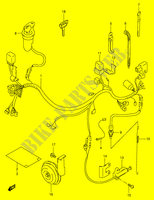 WIRING HARNESS (MODEL W/ X,E24)  DR350V(E1) V 1997 Motorcycle Suzuki microfiche diagram