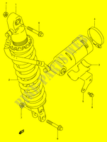 REAR SHOCK ABSORBER  DR350V(E1) V 1997 Motorcycle Suzuki microfiche diagram