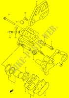 REAR CALIPER  DR350V(E1) V 1997 Motorcycle Suzuki microfiche diagram