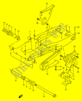 REAR SWINGING ARM  DR350V(E1) V 1997 Motorcycle Suzuki microfiche diagram