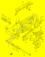 REAR SWINGING ARM (E24)  DR350V(E1) V 1997 Motorcycle Suzuki microfiche diagram