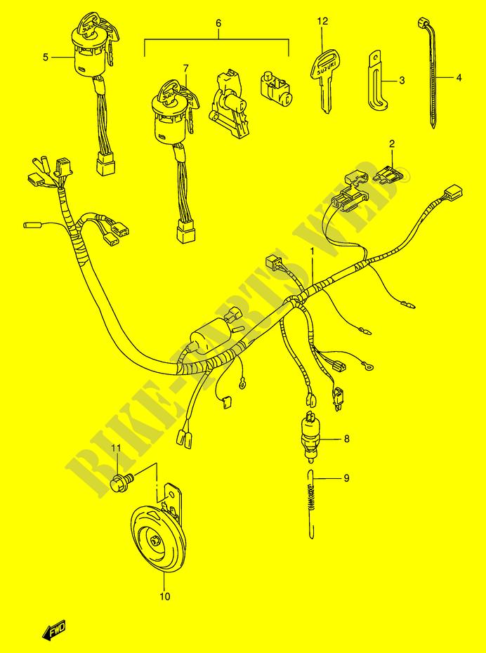 Wiring Harness For Suzuki Fb 100 1995 Suzuki Motorcycles Genuine Spare Parts Catalog