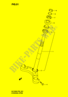STEERING STEM  UH125K6(P2) K6 2006 Motorcycle Suzuki microfiche diagram