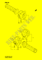 HANDLE SWITCH  UH125K6(P2) K6 2006 Motorcycle Suzuki microfiche diagram