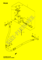 REAR MASTER CYLINDER (MODEL K2, K3)  UH125K6(P2) K6 2006 Motorcycle Suzuki microfiche diagram