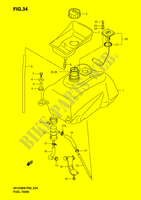 FUEL TANK  UH125K6(P2) K6 2006 Motorcycle Suzuki microfiche diagram