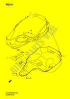 HELMET BOX (MODEL K2/ K3)  UH125K6(P2) K6 2006 Motorcycle Suzuki microfiche diagram