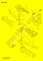 HANDLE LEVER  UH125K6(P2) K6 2006 Motorcycle Suzuki microfiche diagram