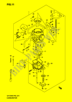 CARBURETOR  UH125K6(P2) K6 2006 Motorcycle Suzuki microfiche diagram