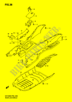 REAR LEG SHIELD  UH125K6(P2) K6 2006 Motorcycle Suzuki microfiche diagram