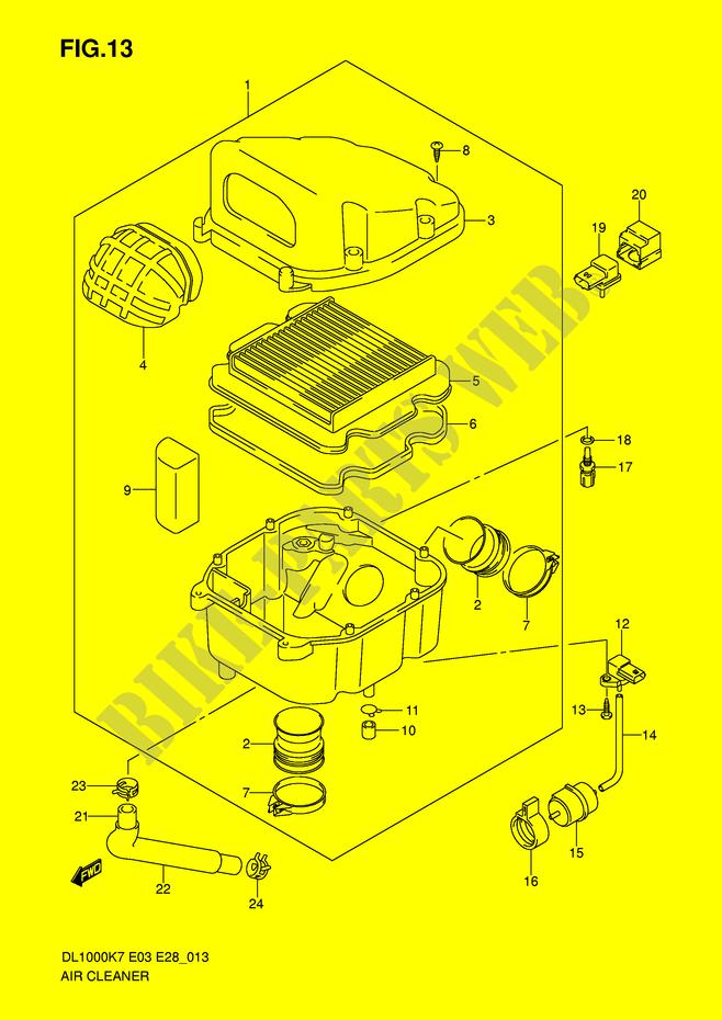 air filter engine transmission dl1000k8 e3 e28 2008 v strom 1000 rh bike parts suz com 1991 BMW M5 Engine in BMW E28 BMW E90 Engine
