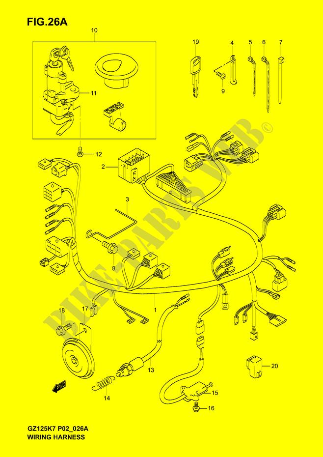 Superb Wiring Harness Model K7 Electrical Gz125K6 P02 2006 Marauder 125 Wiring 101 Ariotwise Assnl