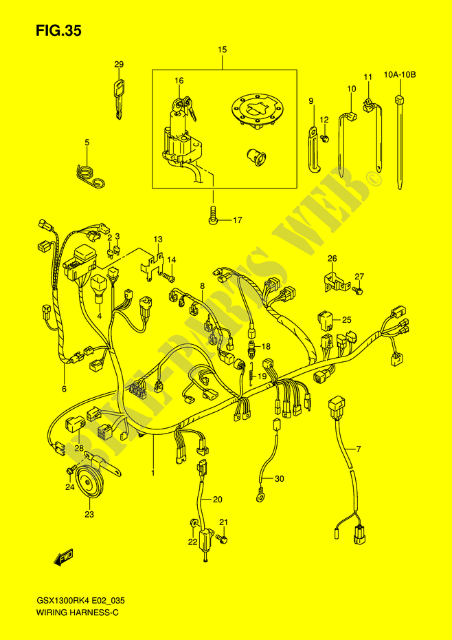 hayabusa wiring diagram for 95 wiring harness for suzuki hayabusa 1300 2005 suzuki motorcycles  wiring harness for suzuki hayabusa 1300