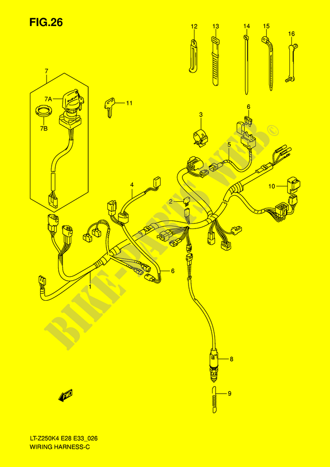 Wiring Harness For Suzuki Quadsport 250 2005 Suzuki Motorcycles Genuine Spare Parts Catalog