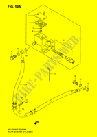 FIG. 59A (H-11) REAR MASTER CYLINDER (MODEL K4/ K5/ K6)  UH125K6(P2) K6 2006 Motorcycle Suzuki microfiche diagram