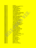 * COLOR CHART * for Suzuki DR 800 1996