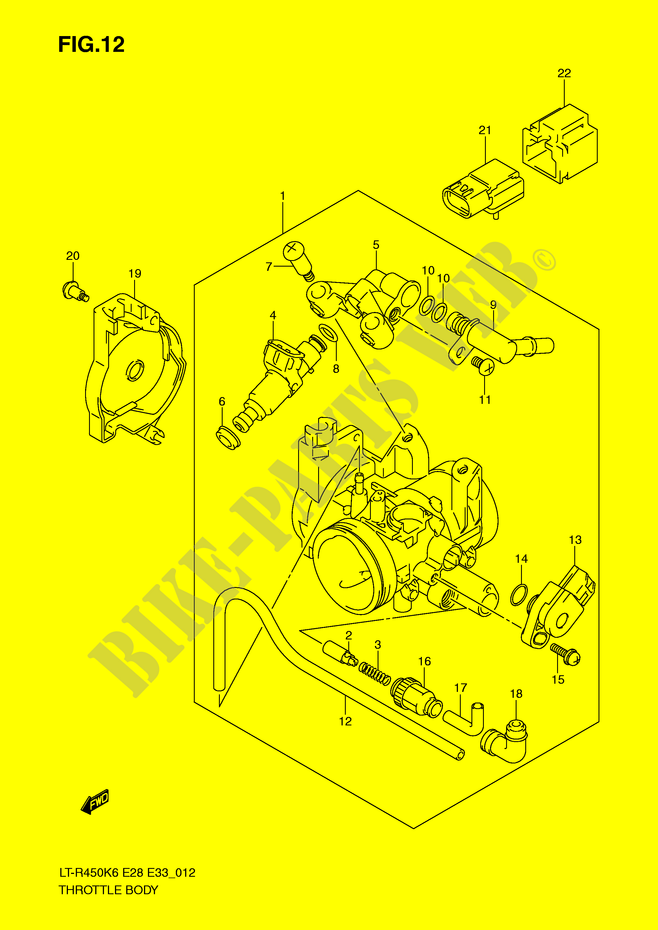 THROTTLE BODY MODEL K6 K7 K8 Suzuki ATV 450 QUADRACER 2008 LT R450ZK8 E28 E33 DP051182 2008 suzuki ltr 450 wiring diagram yamaha xj600 wiring diagram 2008 suzuki ltr 450 wiring diagram at gsmx.co