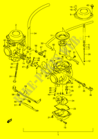 CARBURETOR (MODEL S) for Suzuki GS-E 500 1992
