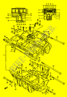 CRANKCASE (E.NO.102248~) for Suzuki GS 1150 1986