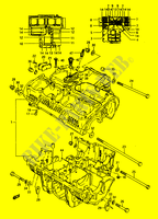 CRANKCASE (~E.102247) for Suzuki GS 1150 1986