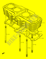 CYLINDER (E.NO.101425~) for Suzuki GS 1150 1986