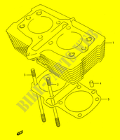 CYLINDER for Suzuki GS-E 500 1996