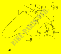 FRONT FENDER (MODEL K/L/M/N/P/R/S) for Suzuki GS-E 500 1992
