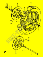 FRONT WHEEL (MODEL E) for Suzuki GS 1150 1986