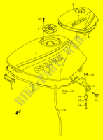 FUEL TANK (MODEL K/L) for Suzuki GS-E 500 1992