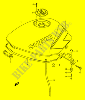 FUEL TANK (MODEL M) for Suzuki GS-E 500 1992