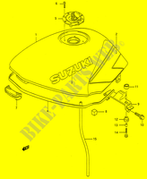 FUEL TANK (MODEL M) for Suzuki GS-E 500 1996